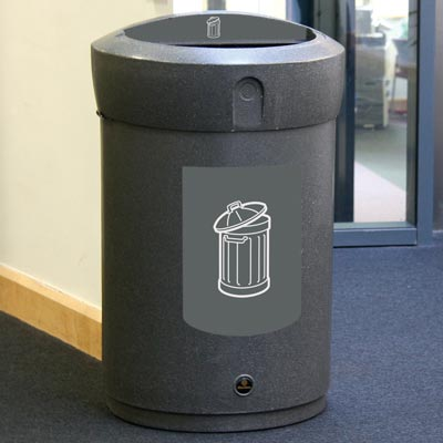 Envoy™ General Waste Open Top Bin - 110 Ltr