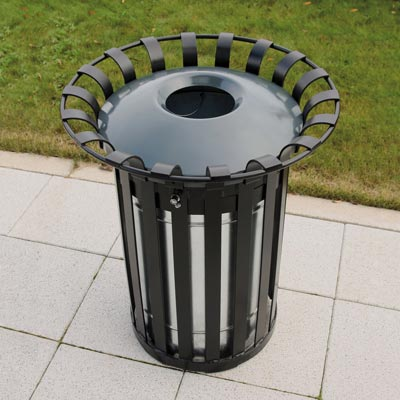 Everglade Litter Bin (85ltr) with optional dome top.