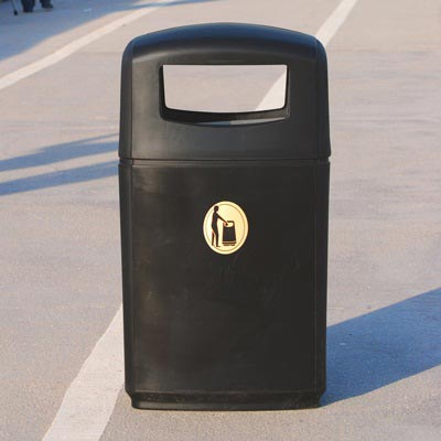 Integro Cigarette/Litter Bin collects large volumes of litter.