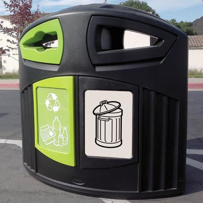 Nexus® 200 General Waste / Mixed Recyclables Recycling Bin