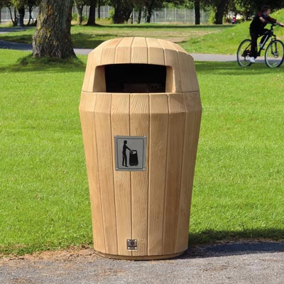 Sherwood™ Litter Bin with Hooded Top