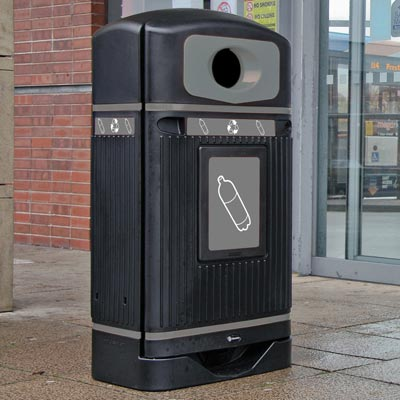 Streamline Jubilee™ Plastic Bottle Recycling Bin